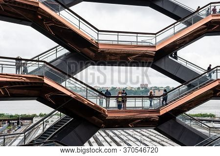 New York, Usa - June 21, 2019:  The Vessel At Hudson Yards Located On Manhattan's West Side - Image