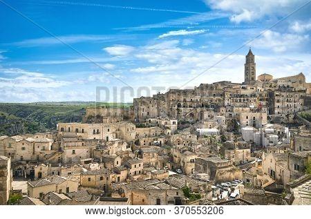 Matera Ancient Town I Sassi, Unesco World Heritage Site Landmark. Basilicata, Italy, Europe