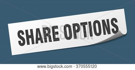 Share Options Sticker. Share Options Square Sign. Share Options. Peeler