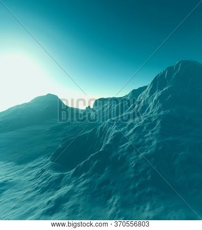 3d rendering of fantasy planet illustration