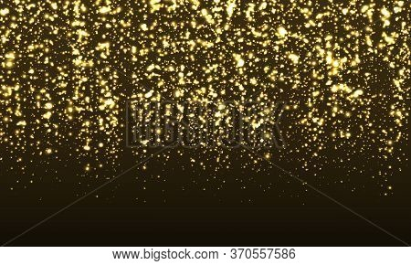 Sparkle Background. Gold Glitter Confetti. Abstract Particles. Sparkling Gold. Vector Illustration.