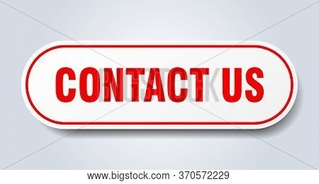 Contact Us Sign. Contact Us Rounded Red Sticker. Contact Us