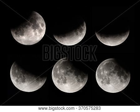 Moon Lunar Eclipse . Phases Of Lunar Eclipse