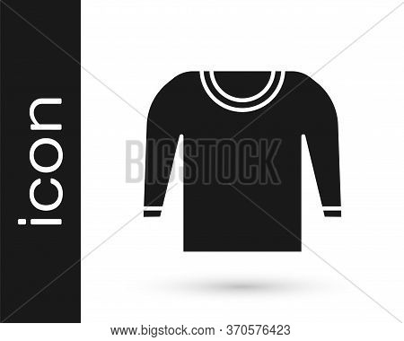 Grey Sweater Icon Isolated On White Background. Pullover Icon. Vector Illustration