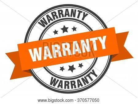 Warranty Label. Warranty Orange Band Sign. Warranty