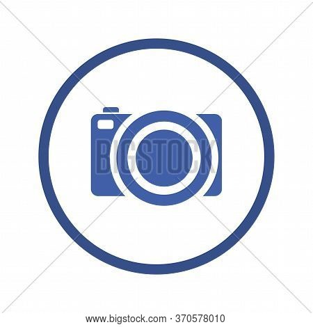 Camera Inside Circle Design, Gadget Technology Photography Equipment Digital Photo Focus And Electro