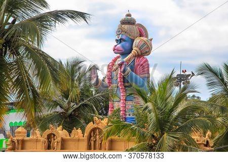 Tall Lord Hanuman statue temple in Bangalore, India