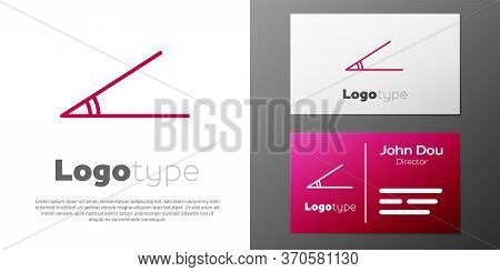 Logotype Line Acute Angle Of 45 Degrees Icon Isolated On White Background. Logo Design Template Elem