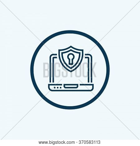 Lock Icon Isolated On White Background From Tab Bar And Settings Collection. Lock Icon Trendy And Mo