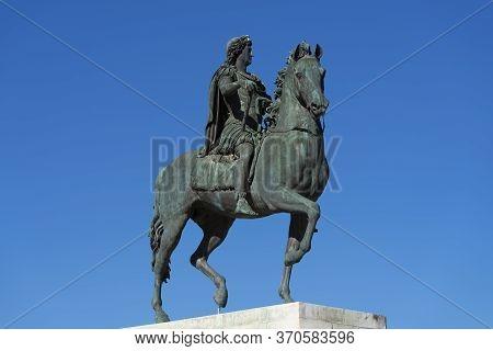 View Of Louis Xiv Statue, Lyon, France