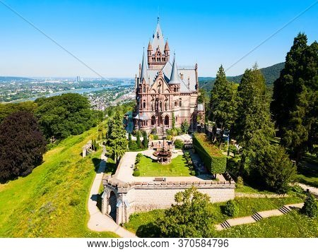 Schloss Drachenburg Castle Is A Palace In Konigswinter On The Rhine River Near The City Of Bonn In G