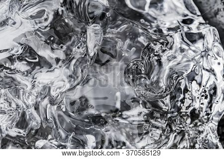 Black And White Glacier Ice Abstract Patterns Background Diamond Beach Jokulsarlon Glacier Lagoon Va