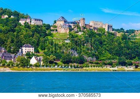 Rheinfels Castle Or Burg Rheinfels Is A Castle Ruin Located Above The Bank Of Rhine River In Sankt G