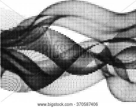 Polka Dot Halftone Retro Vector Background Design. Circle Elements Gradient. Comic Points, Polka Dot