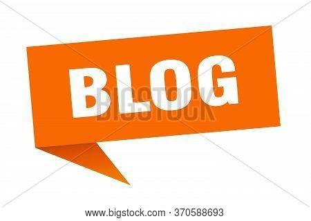 Blog Speech Bubble. Blog Ribbon Sign. Blog Banner