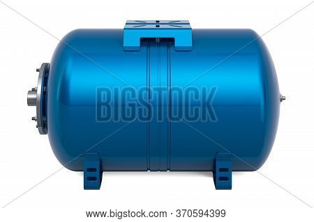 Blue Pressure Tank Vessel Expansion For Domestic Waterworks Pump,  Membrane Drinking Water, 3d Rende