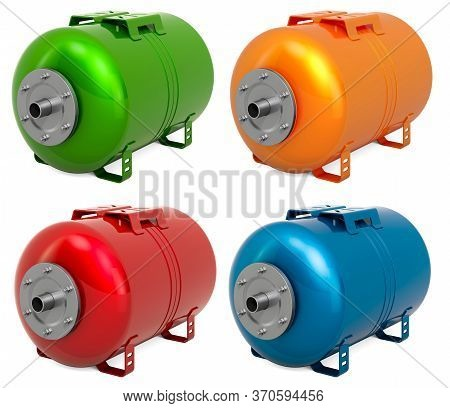 Colored Pressure Tank Vessel Expansion For Domestic Waterworks Pump,  Membrane Drinking Water, 3d Re