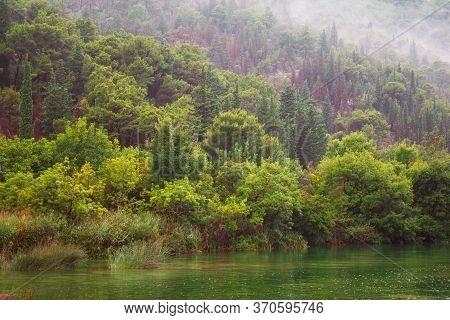 River And Wild Landscape At Krka National Park In Croatia