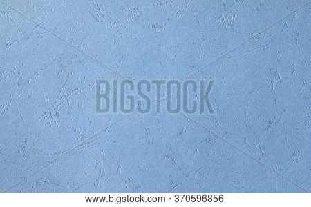 Paper Or Cardboard Sky Blue With Embossing.