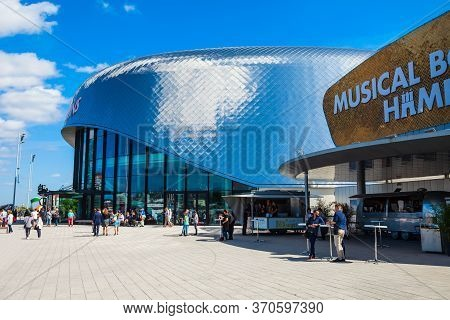 Hamburg, Germany - July 07, 2018: Stage Theater On The Elbe Is A Musical Theater In The Hamburg Dist