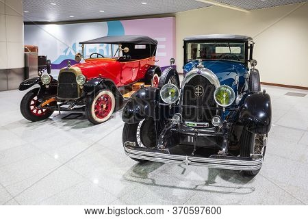 Moscow, Russia - April 06, 2019: Lorraine-dietrich And Fiat Valencia 505 Vintage Cars At The Free Of