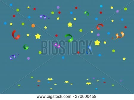 Vector Illustration Of Multi-colored Confetti And Stars From The Firecracker For The Holiday