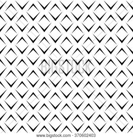 Repeated Black Angle Brackets On White Background. Seamless Pattern Design. Chevrons Abstract Artwor