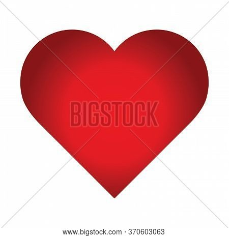 Logo Heart Illustration.red Heart Design Icon Flat. Modern Flat Valentine Love Sign. Trendy Vector H