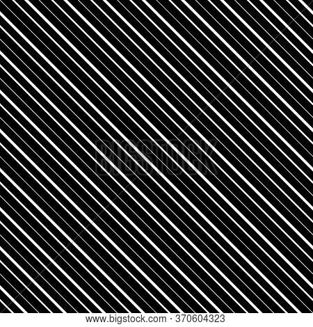 Diagonal Lines Abstract On Black Background. Seamless Surface Pattern Design With Linear Ornament. A
