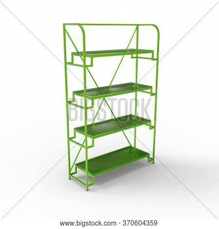 3d Image Of Color Metal Shelving Shelf 04