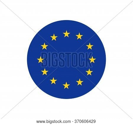 European Union Flag, Official Colors And Proportion Correctly. Patriotic Eu Symbol, Banner, Element,