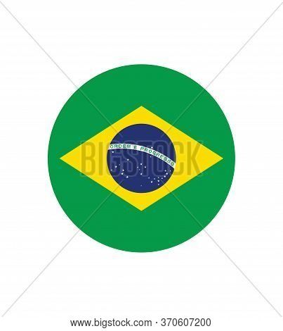 National Brazil Flag, Official Colors And Proportion Correctly. National Brazil Flag. Vector Illustr