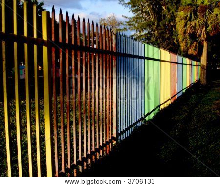 Colorful Playground Fence