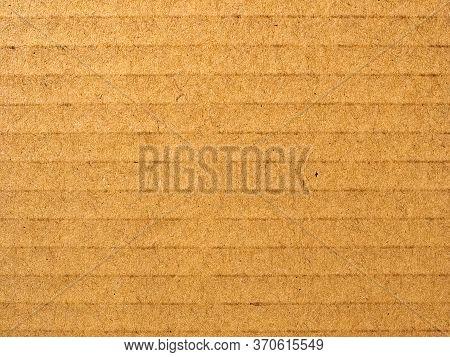 Brown Corrugated Cardboard Texture Background
