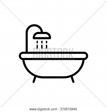 Bath Tub Icon Flat Vector Template Design Trendy