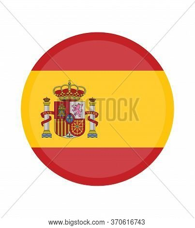 National Spain Flag, Official Colors And Proportion Correctly. National Spain Flag. Vector Illustrat