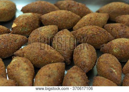 Deep Fried Kibbeh Arabic Style, Crispy Snack Food