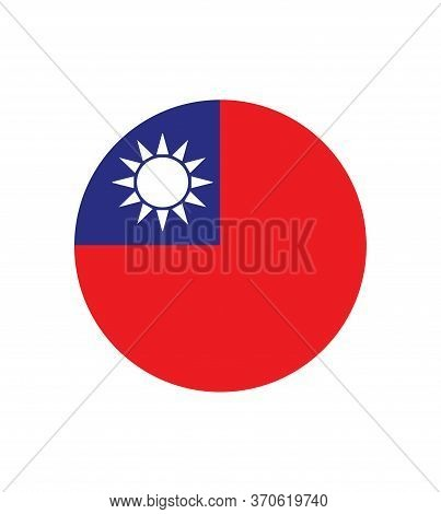 Original And Simple Taiwan / Republic Of China Flag Isolated Vector In Official Colors And Proportio