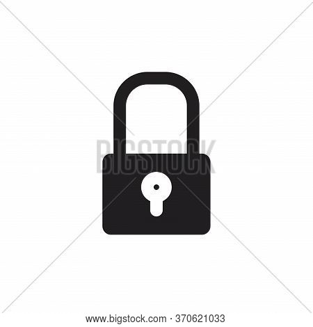Isolated Padlock Icon On A White Background. Trendy Padlock Icons And Modern Padlock Symbols For Log