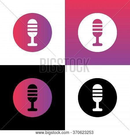 Microphone Icon Design, Mic Symbol Illustration, Mike Logo Vector