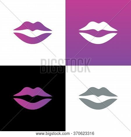 Lips Icon Design, Lip Symbol Vector, Simple Mouth Illustration