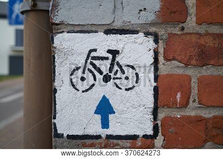 Cycle Path In Niechorze On The Polish Baltic Coast