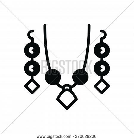 Black Solid Icon For Set Jewellery Ornament Decoration Jewelry Embellishment Adornment