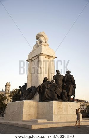 Statue Of Former Hungarian Prime Minister Istvan Tisza By Parliament On Kossuth Square At Front Of H