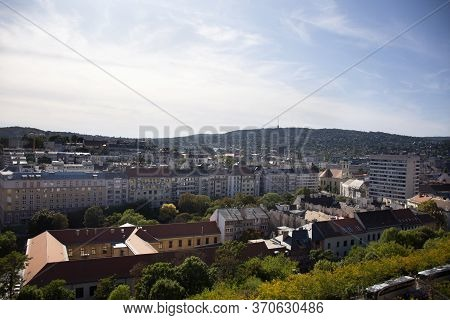 View Landscape And Cityscape Classic Retro Vintage Building Of Budapest City From Budapest Castle Hi