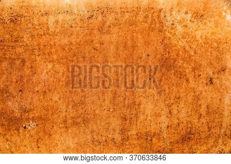 Rusty Surface In Rusty Corten. Oxidized Metal Background.