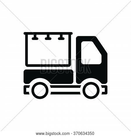 Black Solid Icon For Advertisement Advertising Blurb Reclame Vehicle Transportation