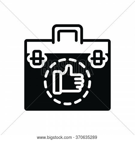 Black Solid Icon For Deal Bargain Transaction Trade  Agreement