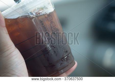 Bangkok, Thailand - June 10, 2020: Starbucks Coffee In Plastic Glass For Go Drink Outside Cafe Becau