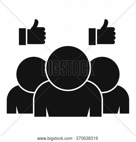 Group Engaging Content Icon. Simple Illustration Of Group Engaging Content Vector Icon For Web Desig